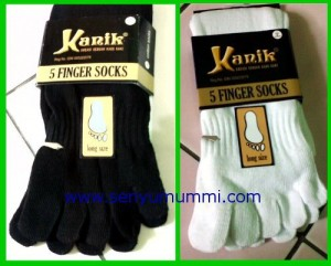 kaos kaki kanik model 5 jari (toe socks)