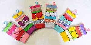 Kaos kaki fashion LA JXZ-16 strip lebar