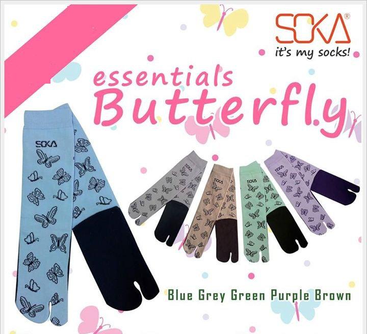 Kaos Kaki Soka Essentials Butterfly kupu-kupu