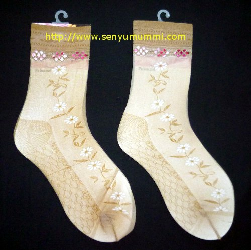 kaos kaki stocking motif bunga
